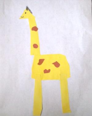 okul-öncesi-dünyam-Zürafa etkinliği