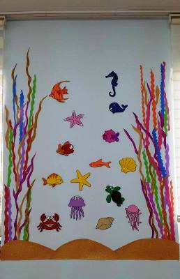 Deniz deniz canlıları sınıf süsü okul öncesi süsleme
