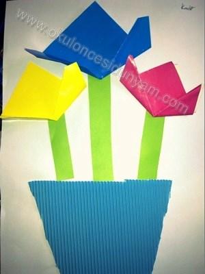 okul-öncesi-dünyam-origami-ile-lale-etkinliği