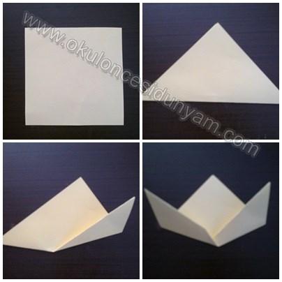 okul-öncesi-dünyam-origami-köpek-etkinliği