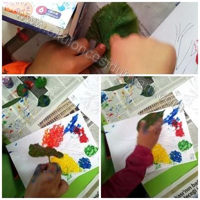 okul-öncesi-dünyam-yaprak-baskısı