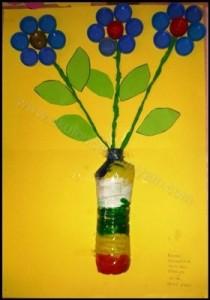 okul-öncesi-dünyam-kapaklardan-çiçek etkinlik-örnekleri