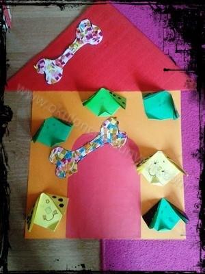 okul-öncesi-dünyam-origami-köpek-yapımı