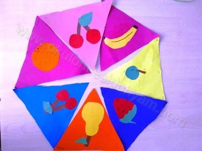 Yerli Mali Meyve Bayraklari Okul Oncesi Dunyam