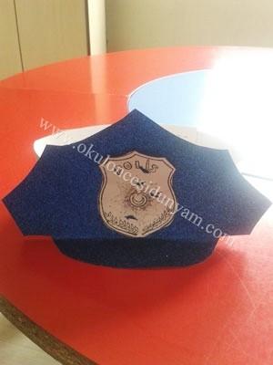 Polis şapkası Etkinliği Okul öncesi Dünyam