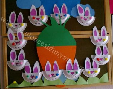 okul öncesi tabaktan tavşan etkinliği