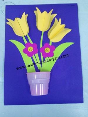okul öncesi vazodaki çiçekler etkinlik örnekleri