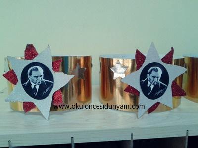 okul öncesi Atatürk haftası taç örnekleri