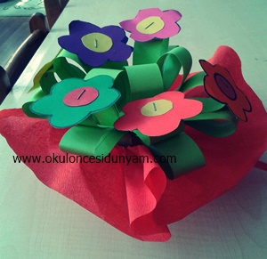 okul öncesi öğretmenler günü çiçek örnekleri