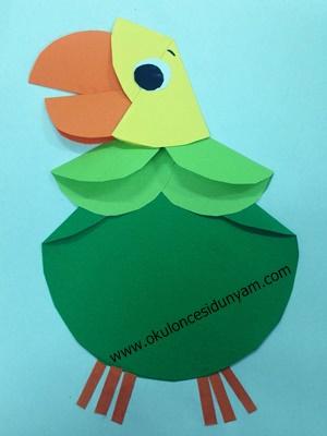 okul öncesi papağan etkinlik örnekleri