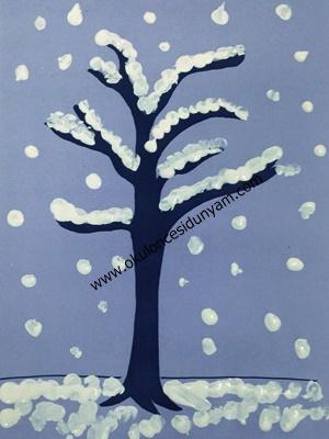 Karlı Ağaç Okul öncesi Dünyam