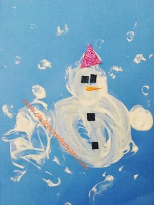 okul öncesi kardan adam etkinlik örnekleri