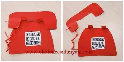 Kırmızı Telefon Okul öncesi Dünyam