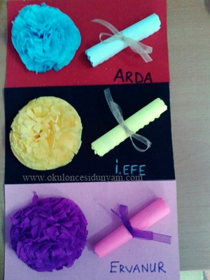 okul öncesi karne süsleme örnekleri