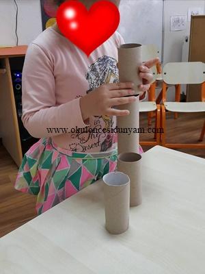 okul öncesi rulo kule oyun etkinliği