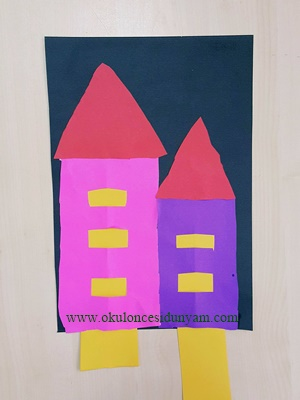 okul öncesi ev sanat etkinliği