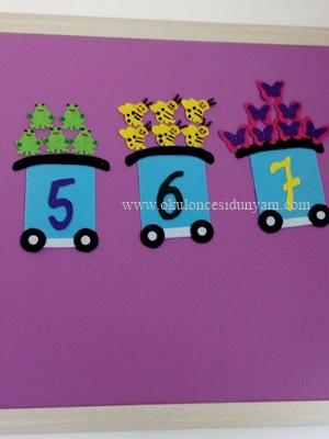 okul öncesi sayı treni