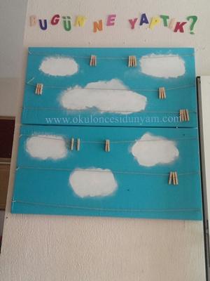 okul öncesi pano yenileme örneği