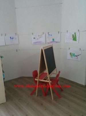 okul öncesi sanat köşesi