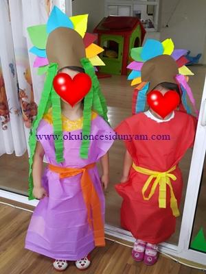 okul öncesi kızılderili kostümü