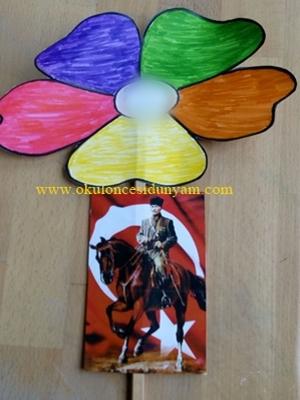 okul öncesi 10 kasım çiçek örnekleri