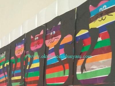 okul öncesi kedi sanat etkinliği
