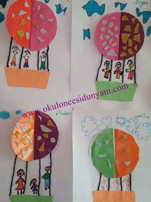 Ucan Balonlar Yapalim Okul Oncesi Dunyam