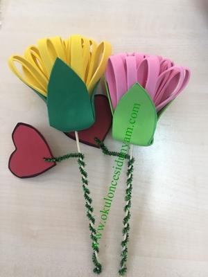 okul öncesi eva çiçek örnekleri