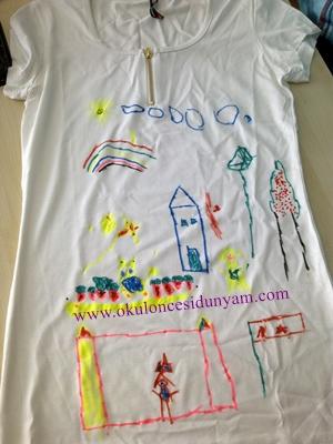 okul öncesi tişört boyama örnekleri