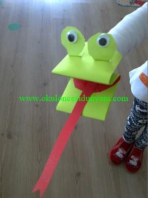 okul öncesi kurbağa kukla etkinlikleri