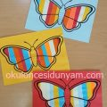 okul öncesi şeritlerle kelebek etkinliği