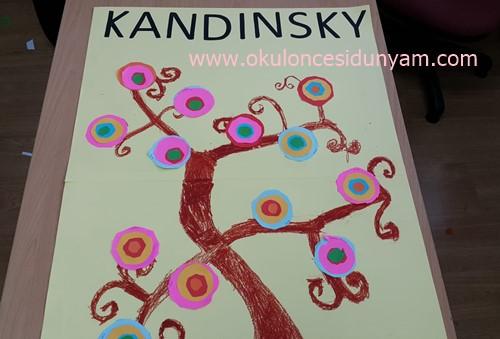 Okul Öncesi Kandinsky Ağacı Etkinliği