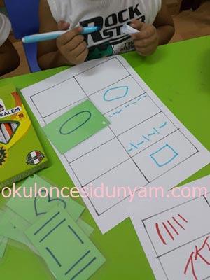 Okul Öncesi Kartlarla Çizgi Çalışması