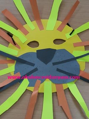 okul öncesi aslan maskesi etkinliği
