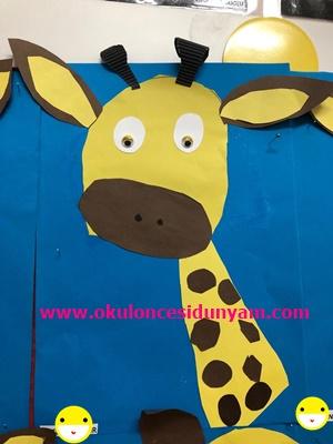 okul öncesi zürafa etkinliği